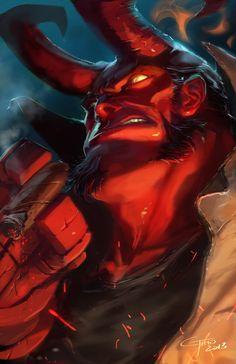 Hellboy  Illustration by James Ghio