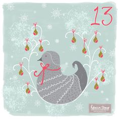 Day 13 - Partridge and a Pear Tree by Rebecca Stoner www.rebeccastoner.co.uk #adventchallenge2014 #christmasadvent #partridgepeartree