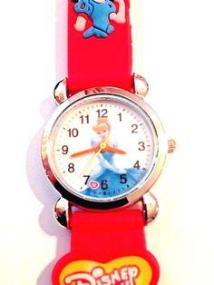 New Red DISNEY PRINCESS Girls Watch 3-D #Unbranded #CartoonIdol