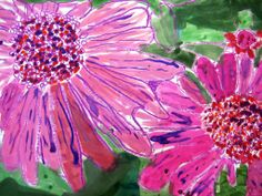 Grade 2 Students created Georgia O'Keeffe inspired flowers for the upcoming Spring Concerts.