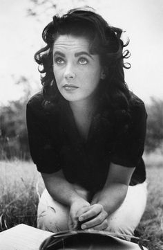 Elizabeth Taylor on location in Virginia for the filming of Giant photographed by Peter Basch, 1956