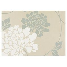 Laura Ashley Isodore Duck Egg Wallpaper 10m - matches the invitation flowers