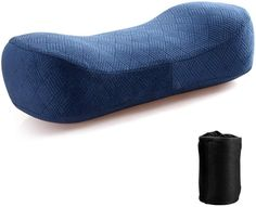 Amazon.com : Memory Foam Camping Pillows for Sleeping - Travel Pillow, Packable/Compressible Camp Pillow with Washable Cover for Backpacking, Home Bed Pillow or Outdoor Pillow, Lumbar/Neck Support Cushion, Blue : Sports & Outdoors Small Pillows, Bed Pillows, Cushions, Neck Support Pillow, Support Pillows, Sore Neck, Camping Pillows, Travel Checklist