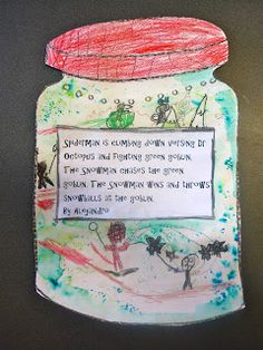 The BFG's Dream Jars - My students have written their own dreams.