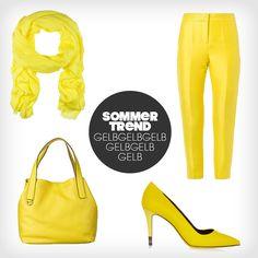 Von Sonnengelb bis Zitronengelb- die Trendfarbe sorgt in all ihren Nuancen für gute Laune im Sommer! #trends #summer #happy