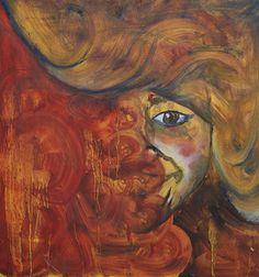 """Melt"" by Kate Kreps. 2008. Oil on drywall."
