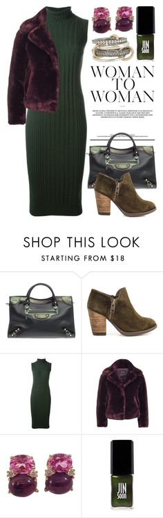 """""""Green With Envy: Wintery Nail Polish 2834"""" by boxthoughts ❤ liked on Polyvore featuring Balenciaga, Mas Artisan, Maison Margiela, Topshop, Christina Addison, JINsoon, SPINELLI KILCOLLIN and nailedit"""