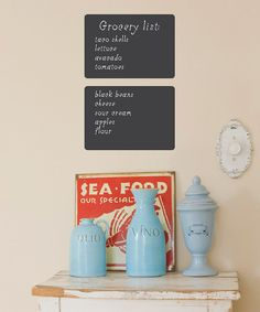 Round Rectangle Chalkboard Wall Decal - Set of Two by Wallquotes.com by Belvedere Designs #zulily #zulilyfinds