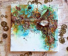 Small and large creative journeys with Olga Bielska: Rdzawy blejtram