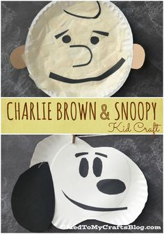 Charlie Brown & Snoopy {Kid Craft}