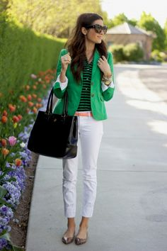 love that green jacket!