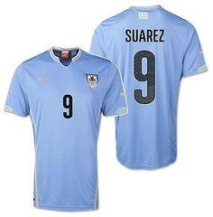 PUMA LUIS SUAREZ URUGUAY HOME JERSEY FIFA WORLD CUP BRAZIL 2014
