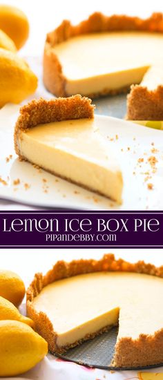 Lemon Ice Box Pie | The BEST lemony dessert you will ever taste!
