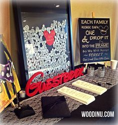Disney Guestbook  Disney Wedding  Disney Wedding by WoodinYouSigns