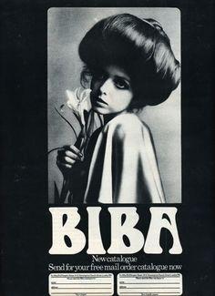 Biba was an iconic London boutique, open from 1964 to It was the brainchild of designer Barbara Hulanicki and run by she and her husb. Barbara Hulanicki, Patti Hansen, Lauren Hutton, Biba Fashion, Vintage Fashion, Timeless Fashion, Womens Fashion, Vintage Love, Vintage Beauty