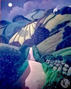 Cornish landscape by Jo March from the Jerram Gallery, Sherborne, Dorset. Contemporary Britsih pictures and sculpture