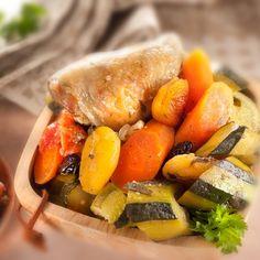 Des légumes savoureux et un poulet moelleux grâce à une cuisson naturelle à basse température.