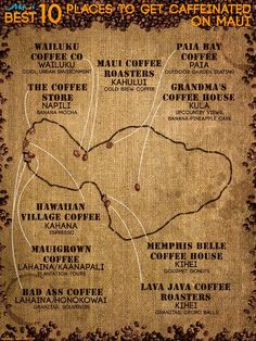 Maui's 10 Best Coffee Shops! http://www.prideofmaui.com/blog/maui/best-coffee-shops.html