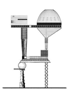 PROPOSAL FOR A SOCIAL CONDENSER 018 #architecture #drawing Pinned by www.modlar.com