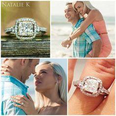 A huge and happy #congratulations to this wonderful #NatalieK couple, already sending out their save-the-dates!  ♥ #Capri #Jewelers #Arizona ~ www.caprijewelersaz.com  ♥