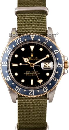 aab0d746b35 Watches Ideas Vintage Rolex GMT-Master Model 16753 Black Dial Discovred by    Todd Snyder