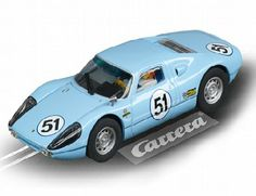 The Carrera Porsche 904 Carrera GTS No 51 Slot Car, is a superbly detailed Carrera Evolution race car for use on any 1/32 analogue slot car layout layout.