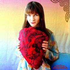 Giant Anatomical Heart Dream Pillow by TRILODEON! $42.00 #giant #heart #valentine #decor