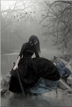 Gothic picture of violinist - author unknown Photography Themes, Dark Photography, Vampires, Dark Fairy Costume, Gothic Pictures, Gothic Wallpaper, Dark Princess, Dark Fairytale, Beautiful Fantasy Art