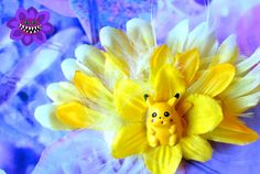 Yellow Pikachu Inspired Pokemon Fascinator 3, Yellow Hair flower, Geeky, Nerdy, Cosplay, Yellow Hair Clip, Pokemon Accessory, Kawaii, Cute