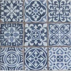 Victorian Marrakesh Black Decor Wall & Floor Tile in Home, Furniture & DIY, DIY Materials, Flooring & Tiles Kitchen Wall Tiles, Wall And Floor Tiles, Kitchen Decor, Bathroom Wall, Tile Bathrooms, Flooring Tiles, Bathroom Plants, Moroccan Design, Moroccan Tiles