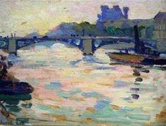 Jonas LIE  Paris  View of the Seine