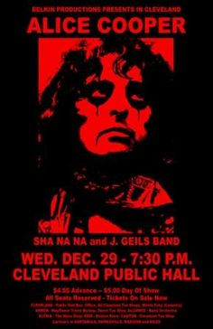 Alice Cooper Concert Poster https://www.facebook.com/FromTheWaybackMachine