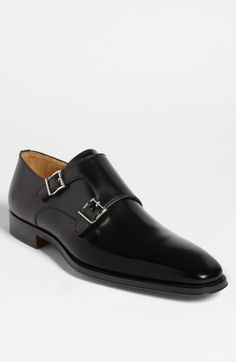Free shipping and returns on Magnanni 'Miro' Double Monk Strap Shoe (Men) at Nordstrom.com. Handsomely burnished leather structures a sleek, Euro-inspired shoe topped by a classic double monk strap.