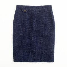 Factory No. 2 pencil skirt in textured tweed - Skirts - Factory's Women - J.Crew