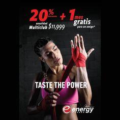 Certificado de regalo Energy Fitness (Membresía multiclub y mantenimiento sin costo por 1 año más un mes gratis para un amigo) para 1 persona