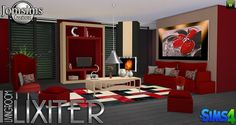 Sims 4 Updates: Jomsims Creations - Furniture, Living room : Lixiter livingroom, Custom Content Download!