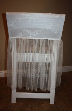 Wedding Chair Cover, Chair Decoration, Bridal Shower Chair Cover, Blossom Vine. $45.00, via Etsy.