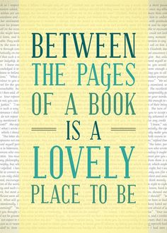 Between the pages of a book...
