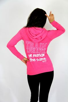 I like the raspberry color in this one. Love this hoodie!! Train Insane Slimfit Hoodie <3 $20