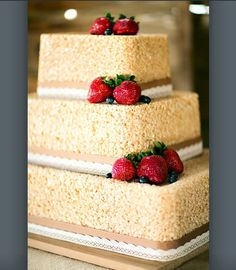 Rice krispie wedding cake
