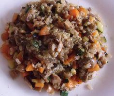 building my new body: Arroz integral con verduras y champiñones