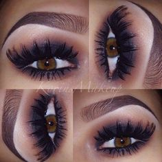 Perfect lashes and brows with the smokey look Full Face Makeup, I Love Makeup, Makeup Looks, Pretty Makeup, Flawless Makeup, Skin Makeup, Makeup Lipstick, Eyeshadow, Beauty Vanity