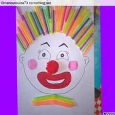 Risultati immagini per bricolages cirque Diy For Kids, Crafts For Kids, Clown Crafts, Kids Carnival, Le Clown, Clowning Around, Circus Theme, Hobbies And Crafts, Preschool Activities