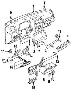 1996 geo tracker 2 dr lsi 4wd convertible geo geo tracker parts diagram