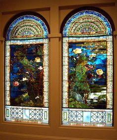 Peacock Stained Glass Windows