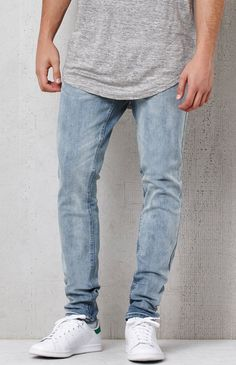 Skinny light indigo flex stretch jeans