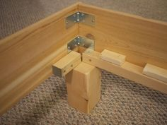 36 Easy DIY Bed Frame Projects to Upgrade Your Bedroom Planning to upgrade your bedroom? Why not make one of these DIY bed frame projects? Here are some great plans and instructions to build your own comfy bed. Bed Frame And Headboard, Diy Bed Frame, Easy Frame, Bed Frames, Woodworking Bench Plans, Woodworking Projects, Woodworking Equipment, Teds Woodworking, Woodworking Store
