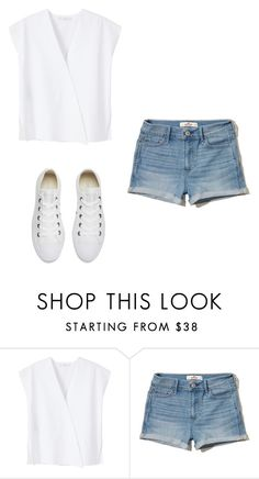 """""""Untitled #292"""" by bubbleguma-ag ❤ liked on Polyvore featuring MANGO, Hollister Co. and Converse"""