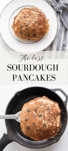 Pancakes Nutella, Pancakes Sans Gluten, Pancakes Vegan, Waffles, Sourdough English Muffins, Sourdough Pancakes, Sourdough Recipes, Sourdough Bread, Pancake Recipe Ingredients