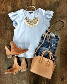 Moda casual verano summer outfits necklaces for 2019 Spring Summer Fashion, Spring Outfits, Autumn Fashion, Winter Outfits, Mode Outfits, Fashion Outfits, Womens Fashion, Fashion Trends, Ladies Fashion
